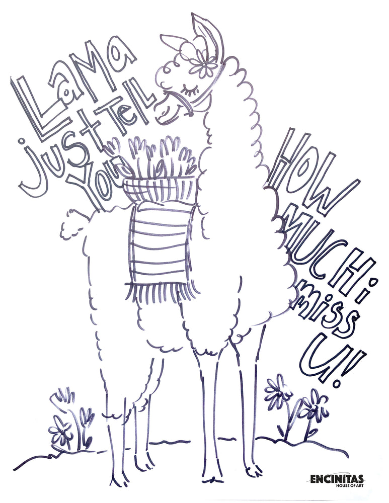 Llama Just Tell You Coloring Page