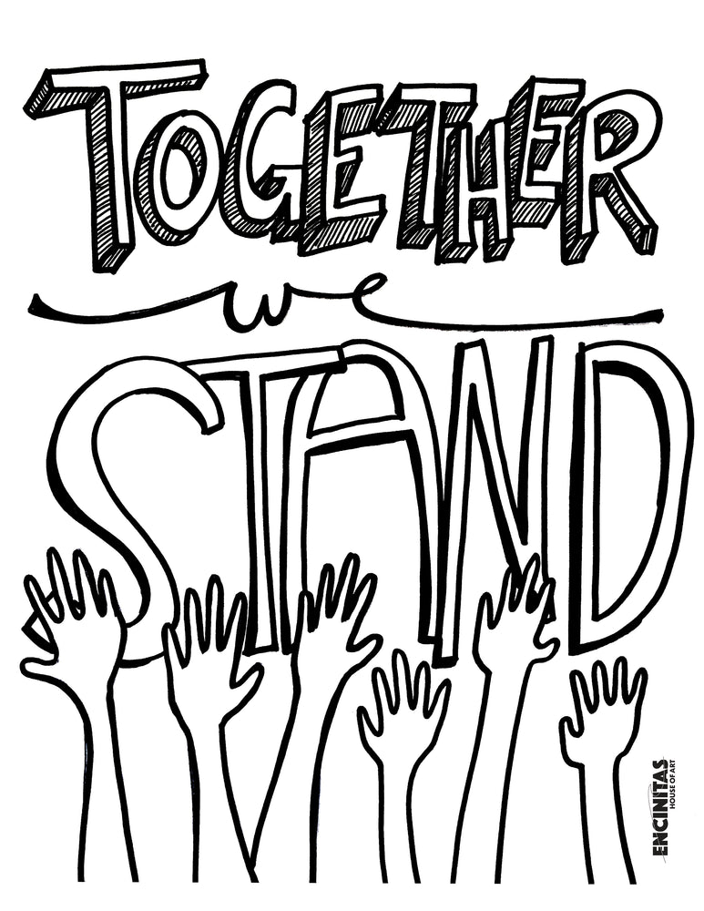Together We Stand Coloring Page