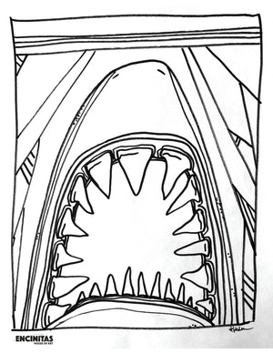 Load image into Gallery viewer, Jaws Coloring Page