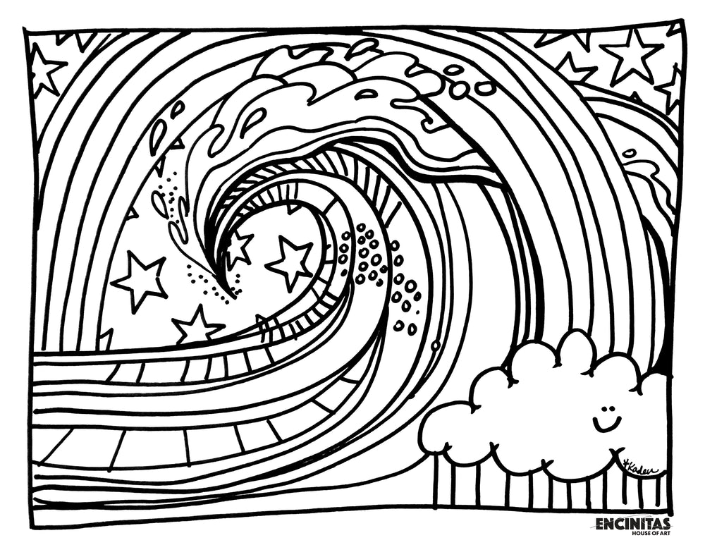 Pretty Wave Coloring Page