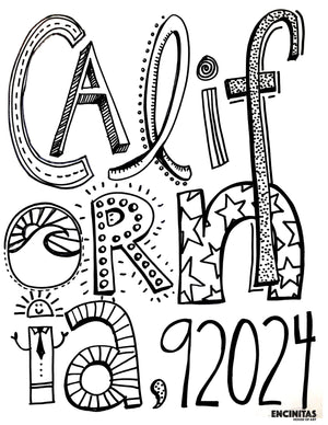California 92024 Coloring Page