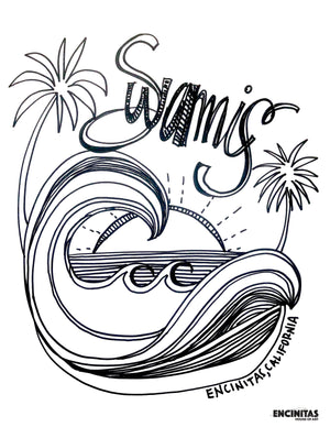 Swamis Coloring Page