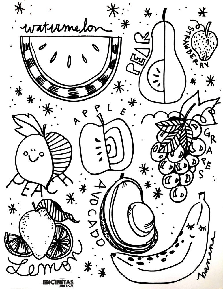 Fruity Tootie Cutie Coloring Page