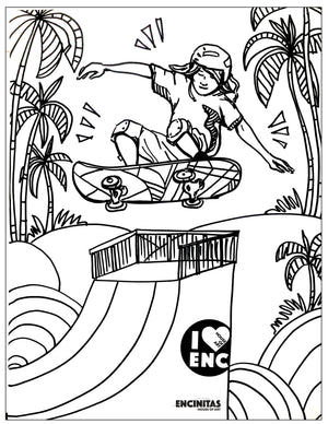 Load image into Gallery viewer, Skateboard Coloring Page
