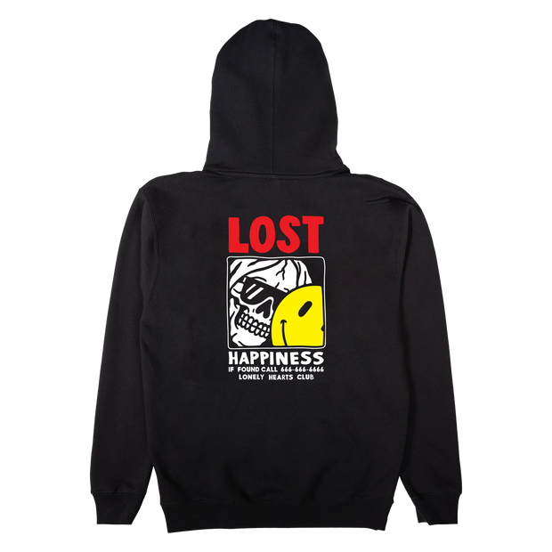 Lost Happiness Black Hoodie