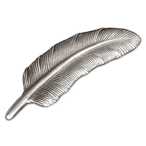 Piuma 'Feather' Paperweight - 11 cm - Handcrafted in Italy - Pewter