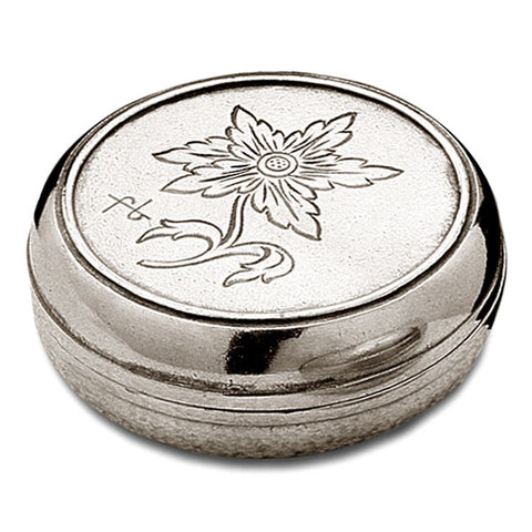 Alpe Box - 7 cm Diameter - Handcrafted in Italy - Pewter