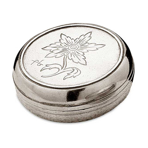 Alpe Box - 5 cm Diameter - Handcrafted in Italy - Pewter