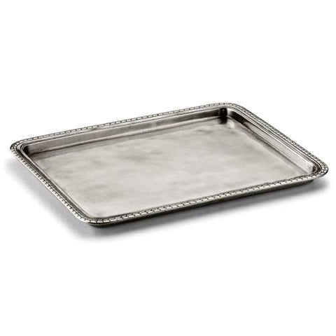 Amalfi Rectangular Tray - 31 cm x 25 cm - Handcrafted in Italy - Pewter