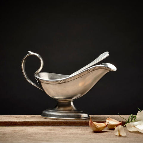 Andrea Doria Gravy Boat - 21 cm x 11 cm - Handcrafted in Italy - Pewter