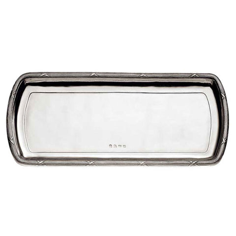 Andrea Doria Rectangular Tray - 36 cm x 16 cm - Handcrafted in Italy - Pewter