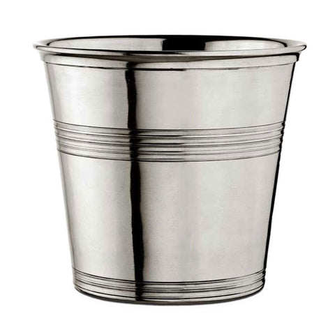 Anelli Waste Basket - 23 cm Height - Handcrafted in Italy - Pewter