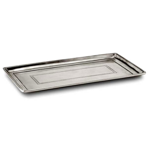 Anelli Vanity Tray - 33 cm x 18.5 cm - Handcrafted in Italy - Pewter
