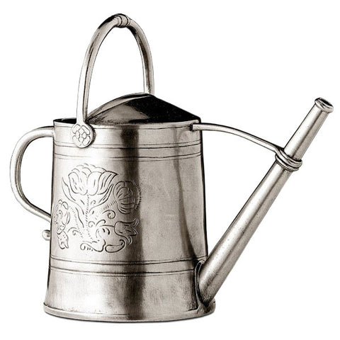 Anemone Watering Can - 24 cm - 1.75 L - Handcrafted in Italy - Pewter