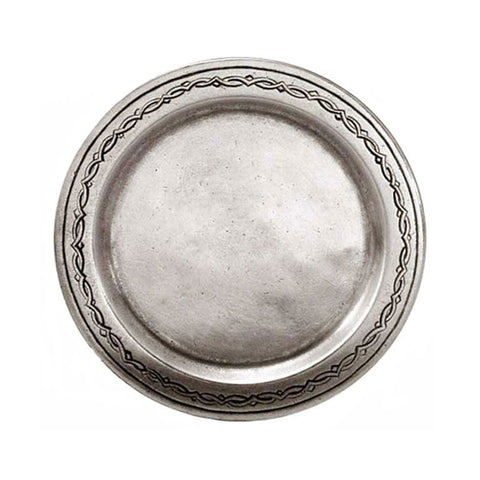 Antioco Decorated Plate (Set of 2) - 12.5 cm Diameter - Handcrafted in Italy - Pewter