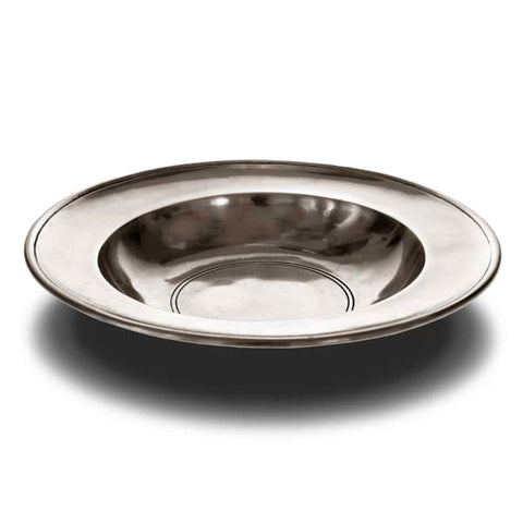 Aosta Round Bowl - 26 cm Diameter - Handcrafted in Italy - Pewter
