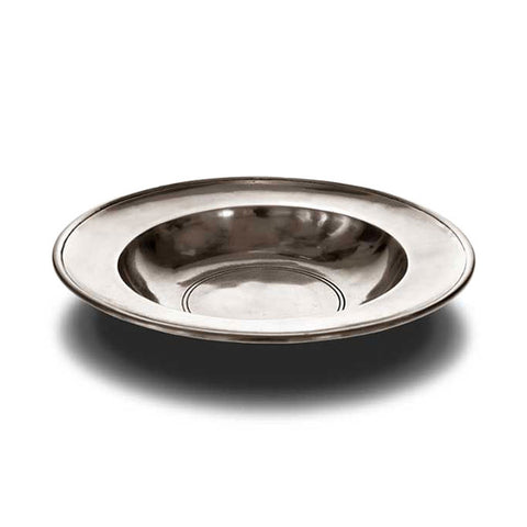 Aosta Round Bowl - 22 cm Diameter - Handcrafted in Italy - Pewter