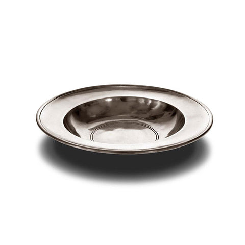 Aosta Round Bowl - 19 cm Diameter - Handcrafted in Italy - Pewter