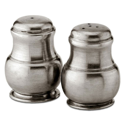 Arcadia Salt & Pepper Shaker Set - 5.5 cm Height - Handcrafted in Italy - Pewter