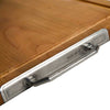 Arezzo Cutting Board - 51 cm x 34 cm  - Handcrafted in Italy - Pewter & Cherry Wood