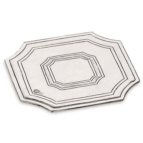 Arezzo Octagonal Placemat - 13.5 cm x 13.5 cm - Handcrafted in Italy - Pewter