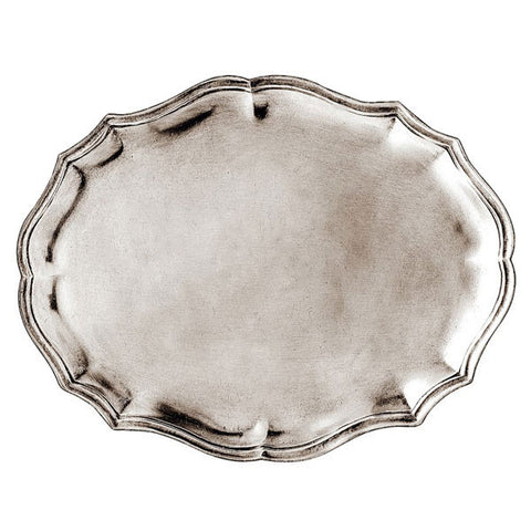 Avola Tray - 25 cm x 19 cm  - Handcrafted in Italy - Pewter