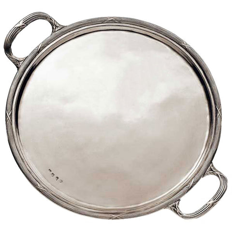 Andrea Doria Tray - 34.5 cm Diameter - Handcrafted in Italy - Pewter