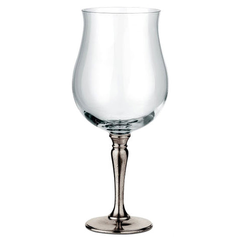 Barolo Pinot Nero Wine Glass - 73 cl - Handcrafted in Italy - Pewter & Crystal