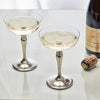 Barolo Champagne Coupe (Set of 2) - 25 cl - Handcrafted in Italy - Pewter & Crystal