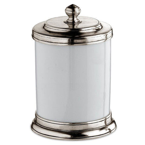 Bassano Storage Canister - 80 cl - Handcrafted in Italy - Pewter & Ceramic