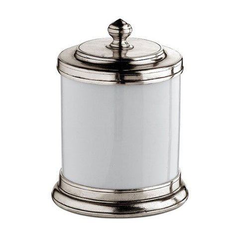 Bassano Storage Canister - 70 cl - Handcrafted in Italy - Pewter & Ceramic