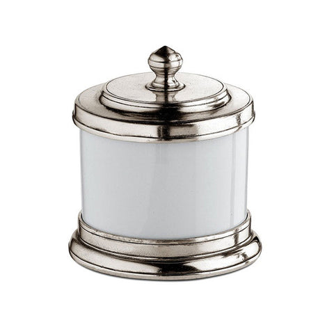 Bassano Storage Canister - 50 cl - Handcrafted in Italy - Pewter & Ceramic