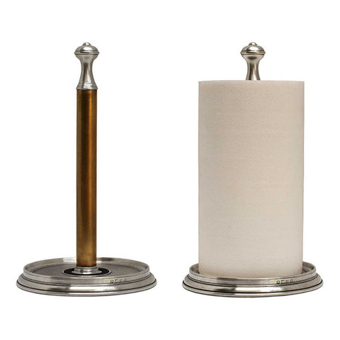Bassano Kitchen Towel Holder - Handcrafted in Italy - Pewter & Brass
