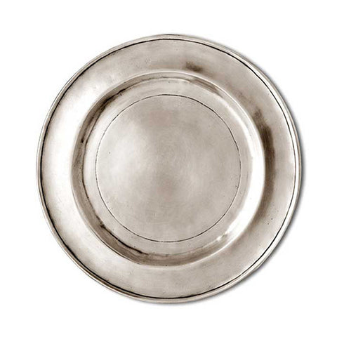 Benaco Plate - 25 cm Diameter - Handcrafted in Italy - Pewter
