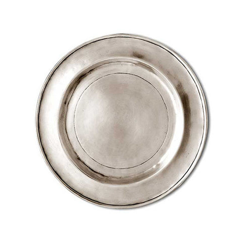 Benaco Plate - 20 cm Diameter - Handcrafted in Italy - Pewter