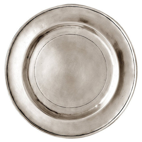 Benaco Charger - 30 cm Diameter - Handcrafted in Italy - Pewter