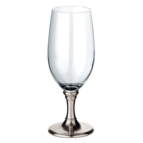 Botticino 'Cervoise' Beer Glass (Set of 2) - 55 cl - Handcrafted in Italy - Pewter & Glass