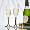 Botticino Champagne Glass (Set of 2) - 17 cl - Handcrafted in Italy - Pewter & Glass