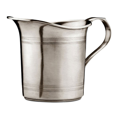 Botticino Straight Pitcher - 1.1 L - Handcrafted in Italy - Pewter