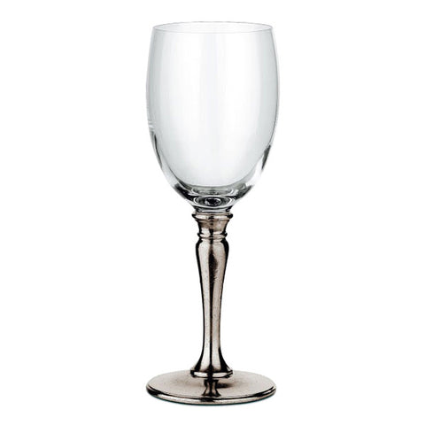 Barolo All Purpose Wine Glass (Set of 2) - 30 cl - Handcrafted in Italy - Pewter & Crystal