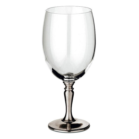 Barolo Water Glass - 70 cl - Handcrafted in Italy - Pewter & Crystal