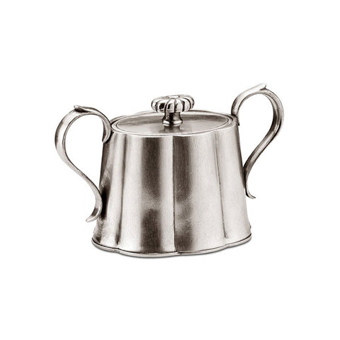 Britannia Sugar Bowl - 6.5 cm Height - Handcrafted in Italy - Pewter