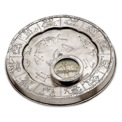 Callisto Stellar Compass - 17.5 cm Diameter - Handcrafted in Italy - Pewter