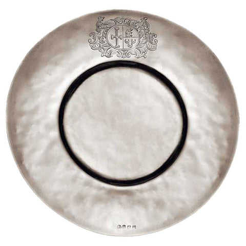 Cardinale Charger Plate - 32.5 cm Diameter - Handcrafted in Italy - Pewter