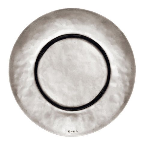 Cardinale Charger Plate - 33 cm Diameter - Handcrafted in Italy - Pewter