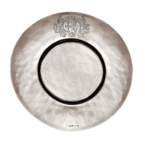 Cardinale Plate - 24 cm Diameter - Handcrafted in Italy - Pewter