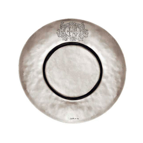 Cardinale Plate (Set of 2) - 17.5 cm Diameter - Handcrafted in Italy - Pewter