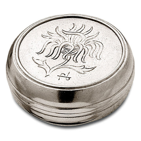 Cardo Box - 7 cm Diameter - Handcrafted in Italy - Pewter