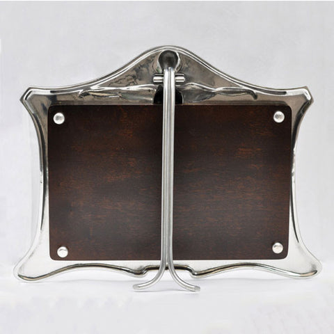 Art Nouveau-Style Carosello Double Photo Frame - 33.5 cm x 24.5 cm - Handcrafted in Italy - Pewter