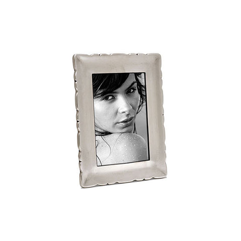 Carretti Rectangular Frame - 9.5 cm x 12.5 cm - Handcrafted in Italy - Pewter